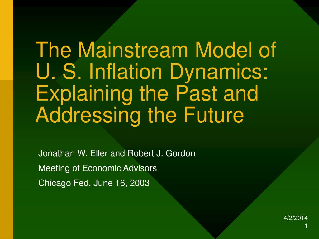 the mainstream model of u s inflation dynamics explaining the past and addressing the future l.