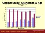 original study attendance age