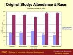 original study attendance race