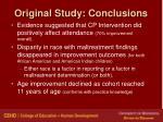 original study conclusions