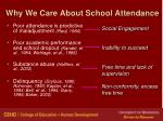 why we care about school attendance