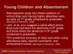 young children and absenteeism