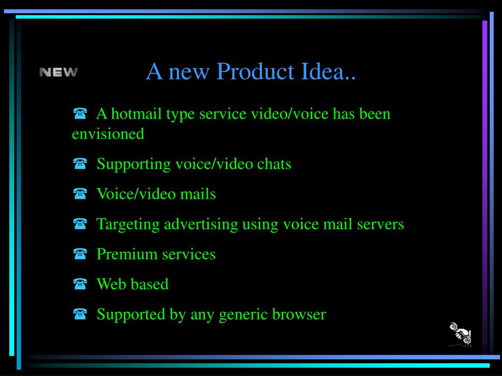 A new Product Idea..