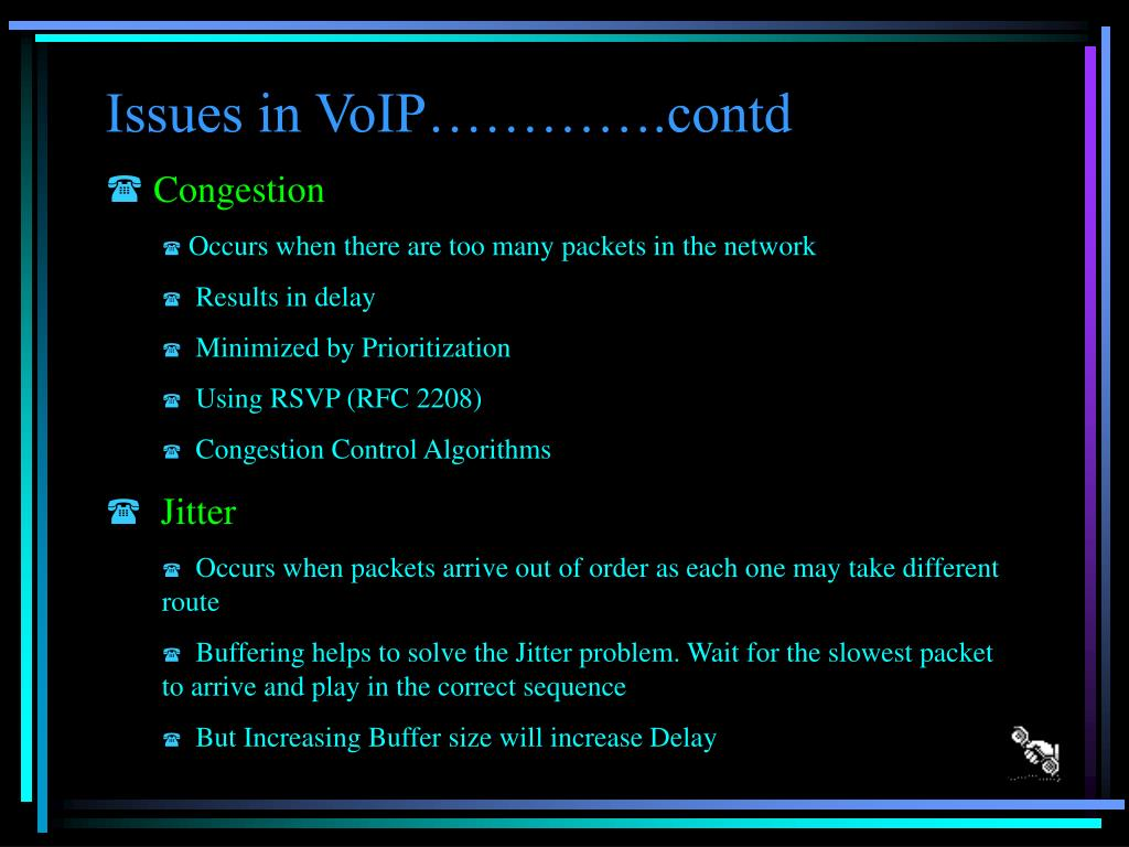 Issues in VoIP………….contd