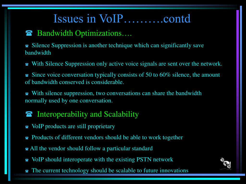 Issues in VoIP……….contd