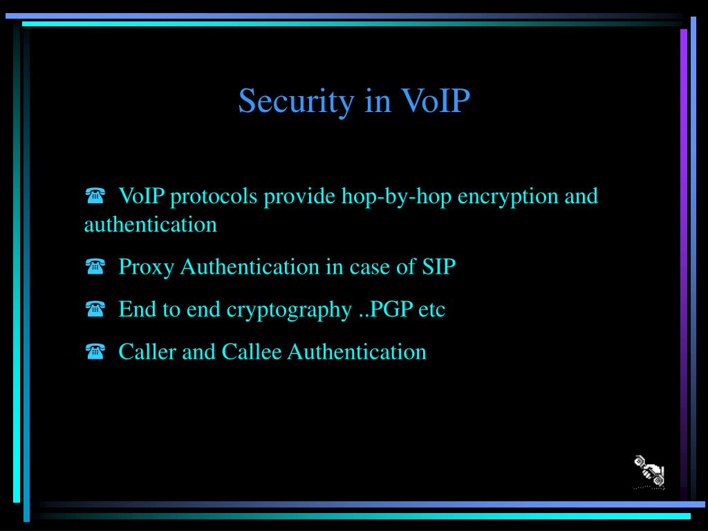 Security in VoIP