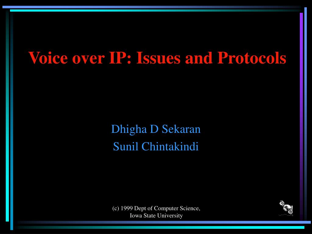 voice over ip issues and protocols l.