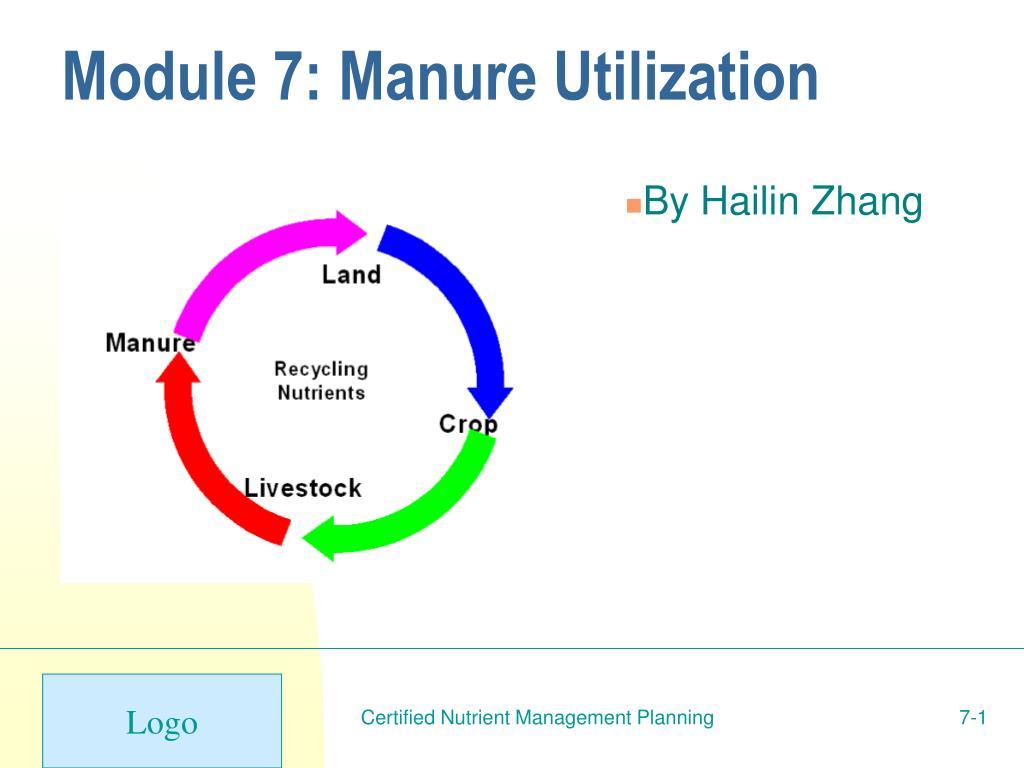 module 7 manure utilization l.