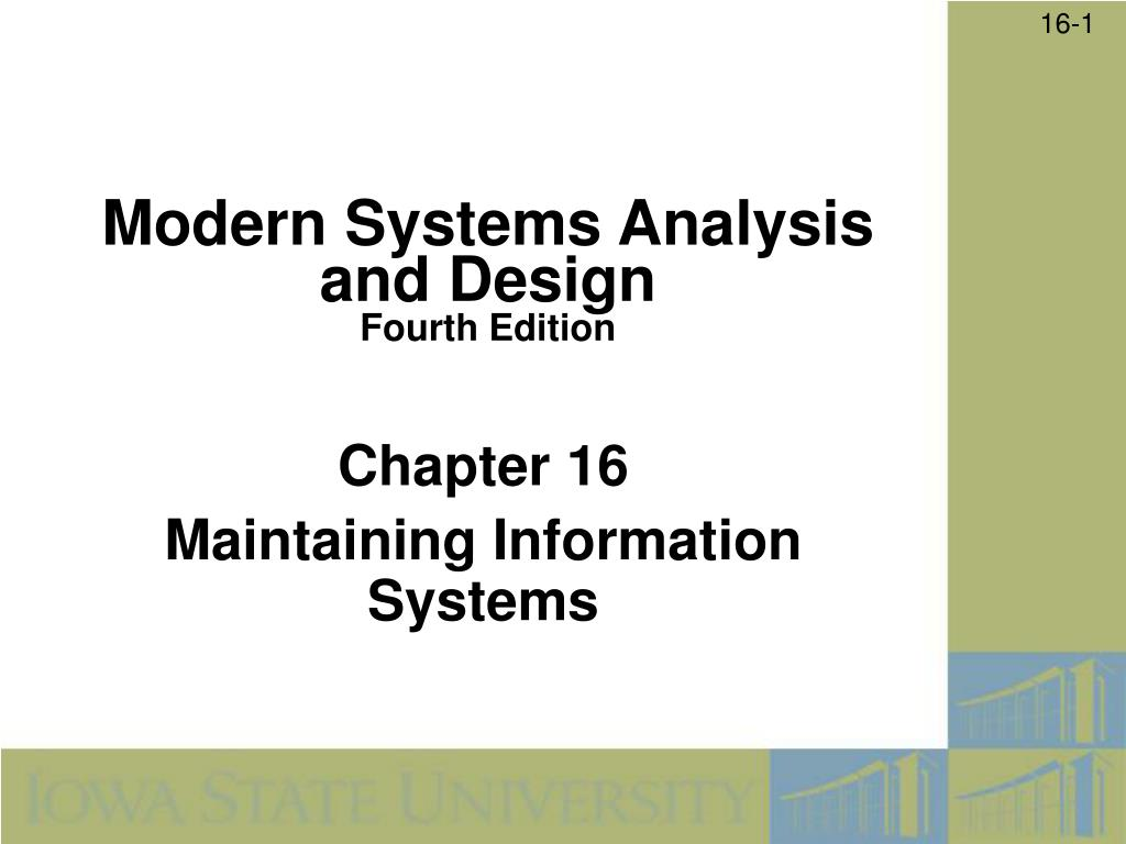 chapter 16 maintaining information systems l.