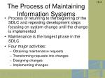 the process of maintaining information systems