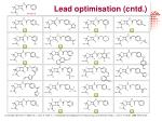 lead optimisation cntd