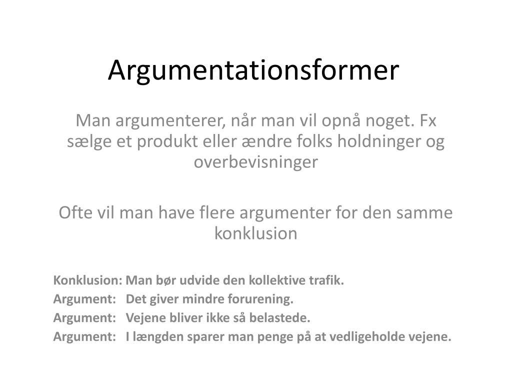 argumentationsformer l.