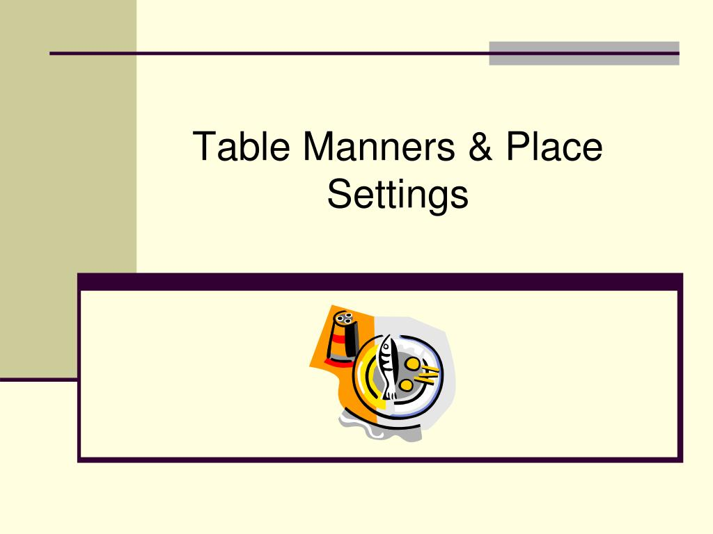 table manners place settings l.