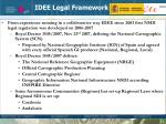 idee legal framework