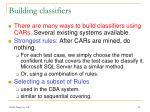 building classifiers