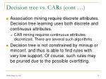 decision tree vs cars cont