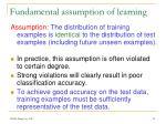 fundamental assumption of learning