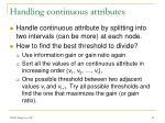 handling continuous attributes
