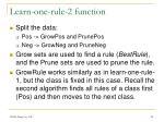 learn one rule 2 function