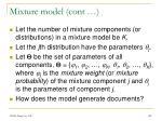 mixture model cont