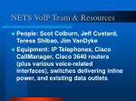 nets voip team resources