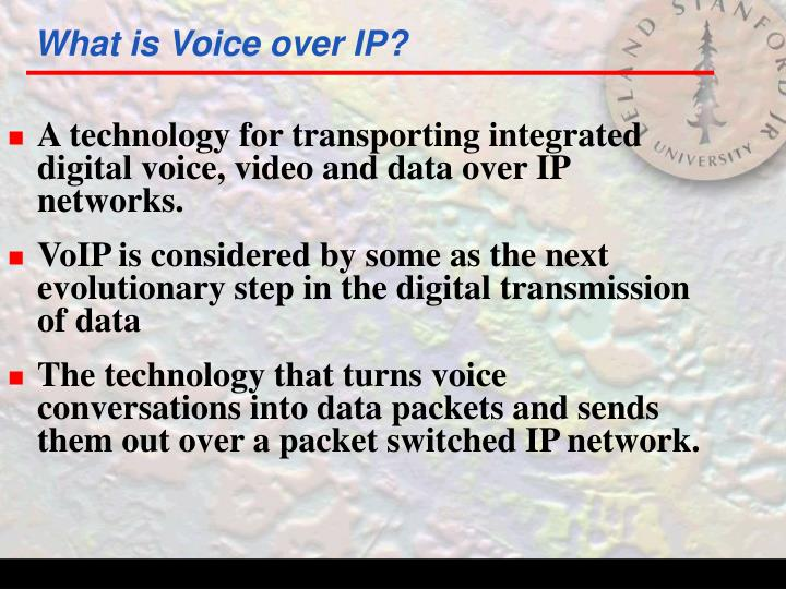 What is voice over ip