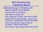 mch epidemiology population based3