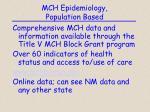 mch epidemiology population based6