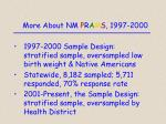 more about nm p r a m s 1997 2000