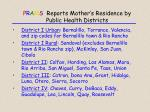 p r a m s reports mother s residence by public health districts