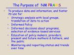the purpose of nm p r a m s13