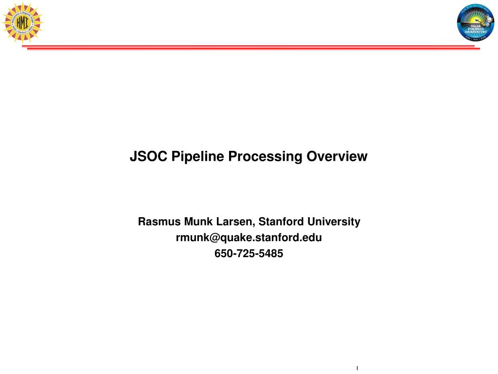 jsoc pipeline processing overview l.