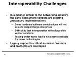 interoperability challenges