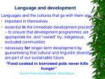 language and development