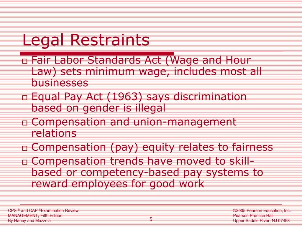 Legal Restraints
