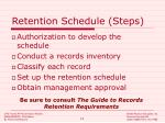 retention schedule steps
