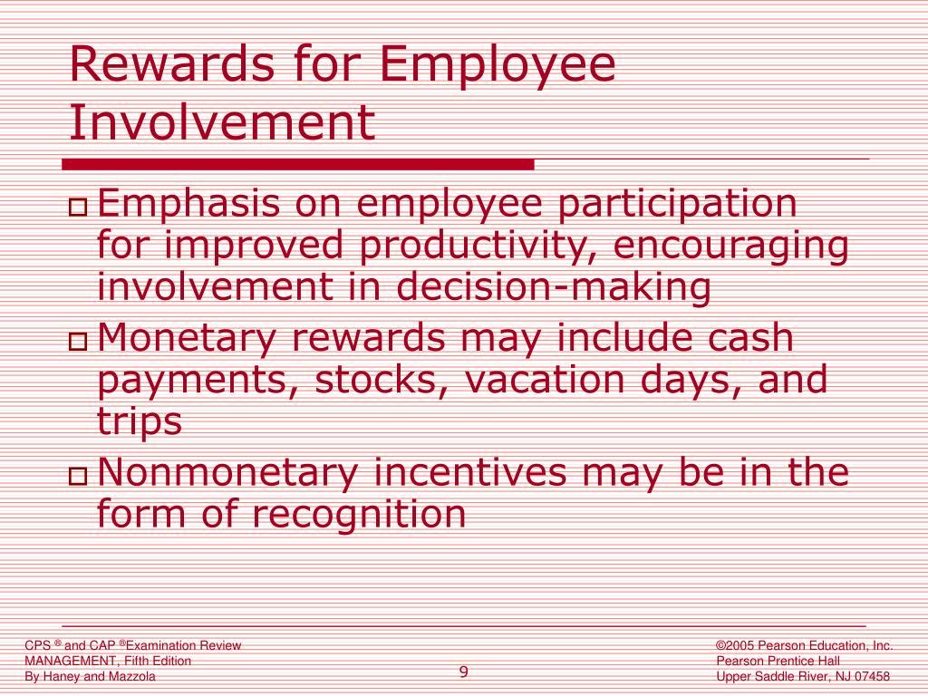 Rewards for Employee Involvement