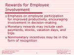 rewards for employee involvement