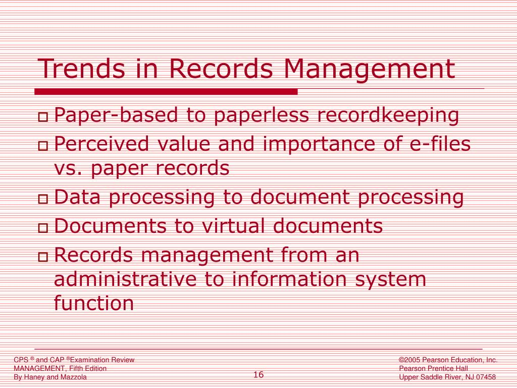 Trends in Records Management