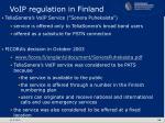 voip regulation in finland
