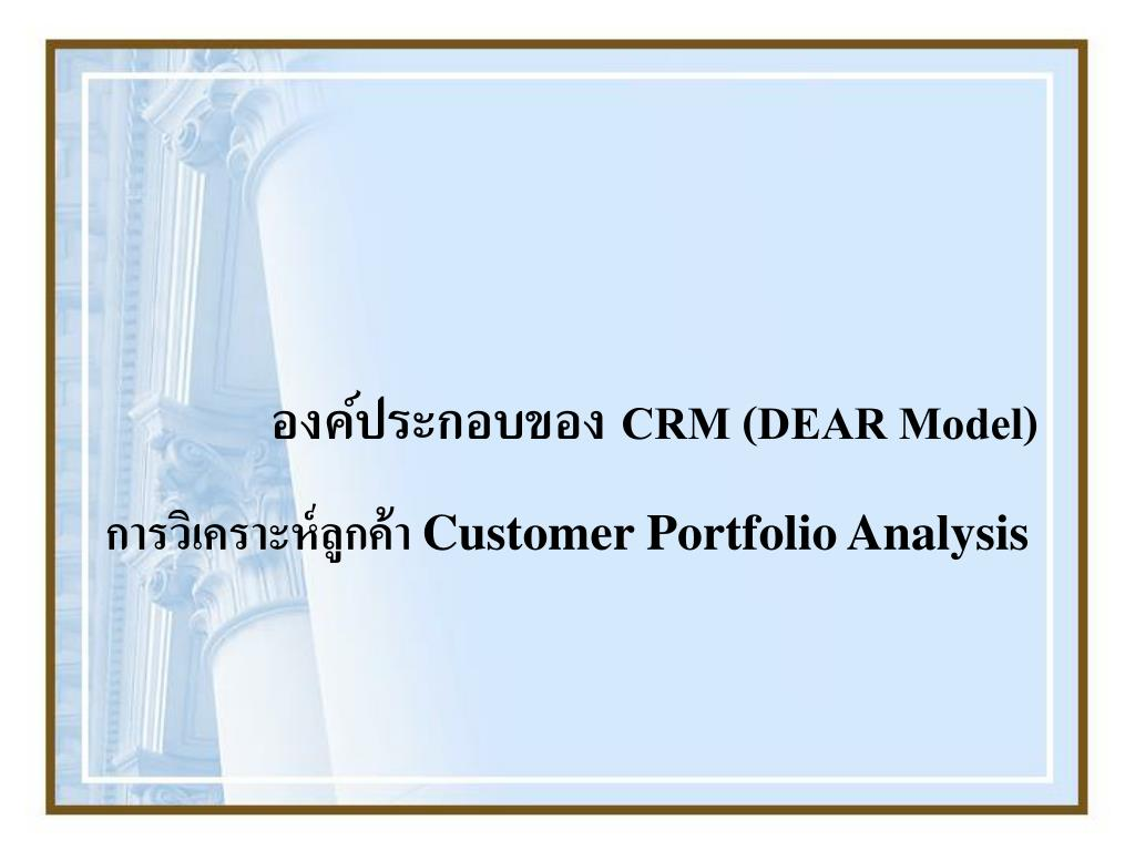 customer portfolio analysis l.