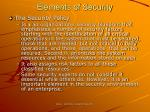 elements of security