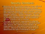 security standards