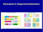 allocated in departmentalization