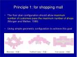 principle 1 for shopping mall