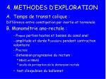 4 methodes d exploration