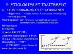 5 etiologies et traitement