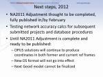 next steps 2012