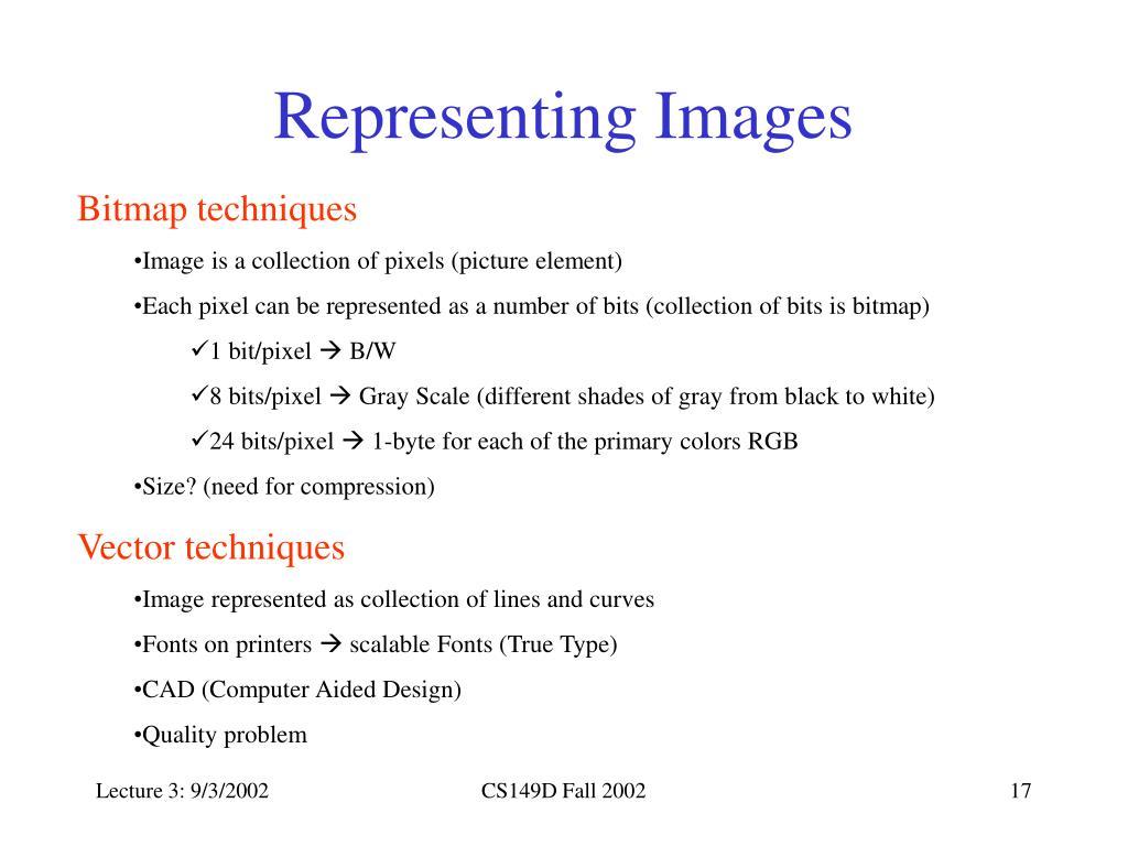 Representing Images