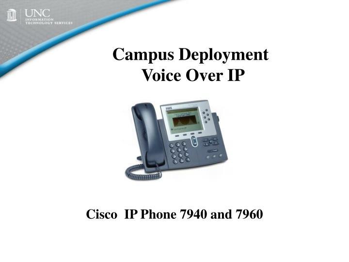 Campus deployment voice over ip
